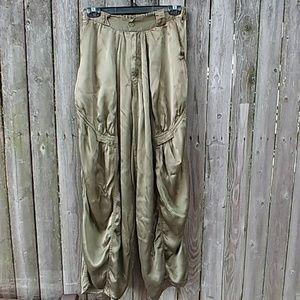 Vintage Rayon Olive Green Geni Harem Hammer Pants